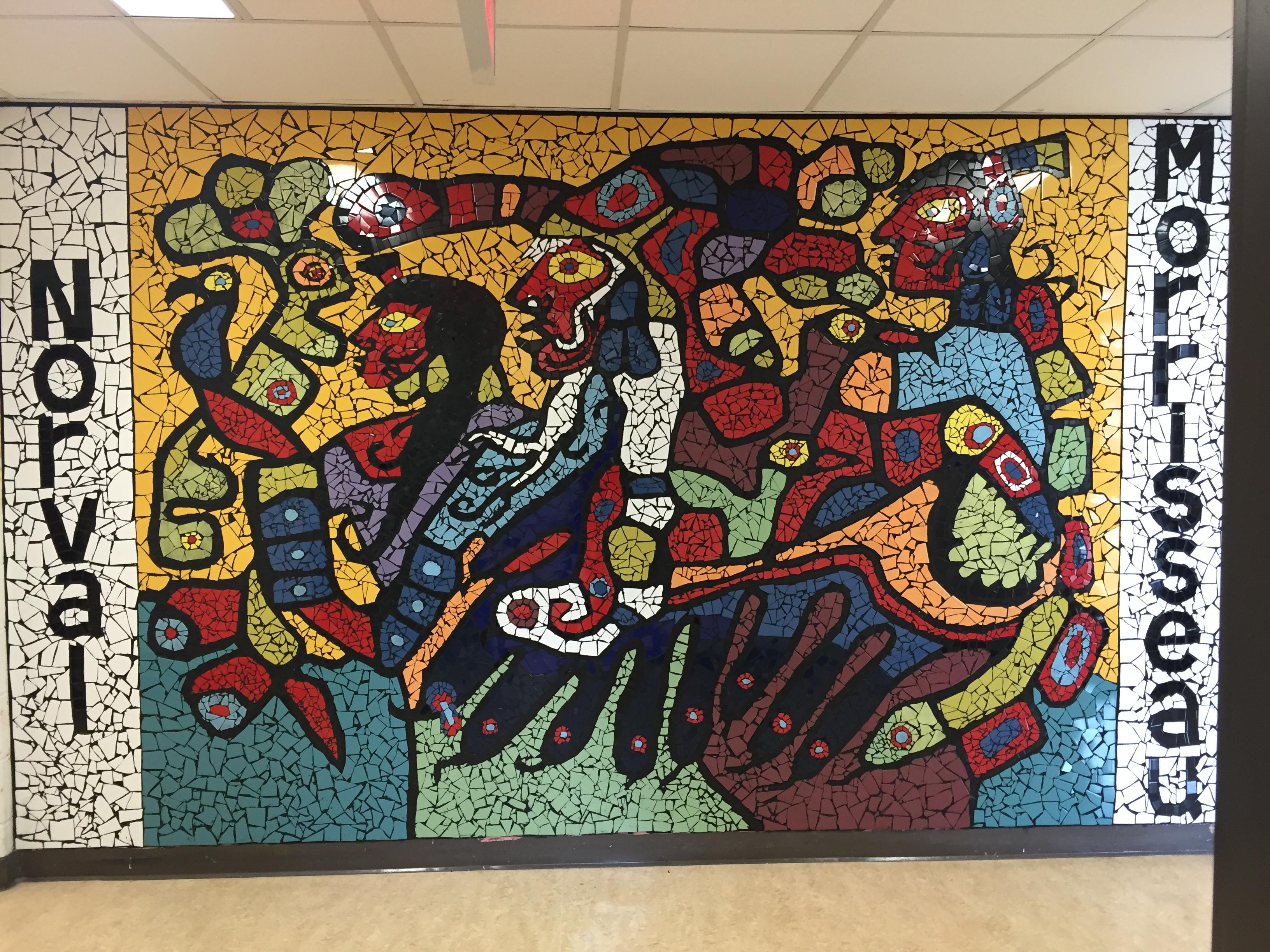 Hommage l uvre artistique de norval morrisseau for Ecole d art mural